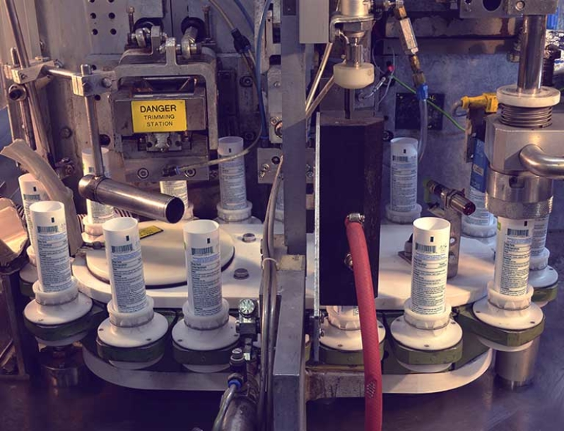 Tube filling machine at Multi-Pack Solutions